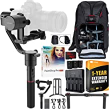 MOZA Air 3-Axis Handheld Gimbal Stabilizer for Mirrorless and DSLR Cameras Creative Bundle with Deco Photo Backpack Case + 1 Year Warranty Extension + 32GB High Speed Card + Paintshop Pro Software