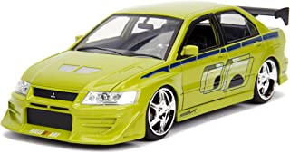 Fast & Furious Brian's Mitsubishi Lancer Evolution VII DIE-CAST Car, 1: 24 Scale Lime Green