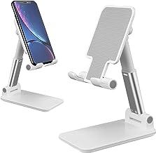 پایه تلفن همراه قابل تنظیم پایه تلفن تاشو تاشو برای میز سازگار با Mini iPhone X Xr Xs max تمام تبلت های گوشی هوشمند ipad Samsung Galaxy (White