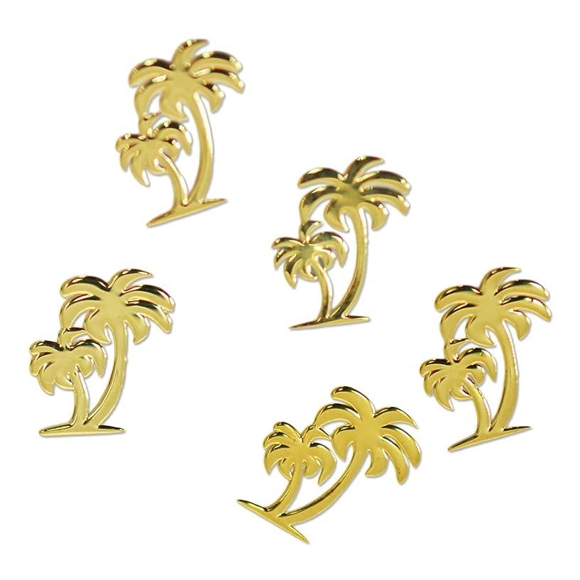 リクルート植物の再生薄型メタルパーツ10021 ヤシの木A ツインパームツリー 約5mm×5mm ゴールド20個入り