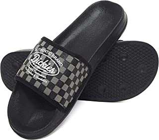 dickies Men's Slip On Slide Sandals Black Gray Medium US 8-9