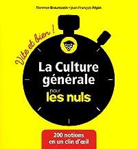 Livres La culture générale pour les Nuls Vite et Bien PDF