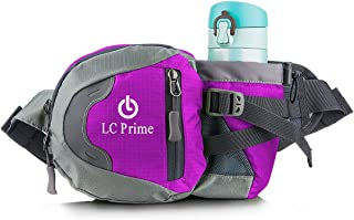 Waist Bag Fanny Pack with Water Bottle Holder for Unisex Hiking Walking Running Lumbar Pack