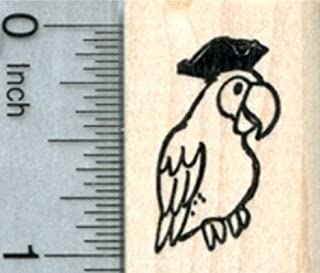 Pirate Parrot Rubber Stamp, Birthday Series