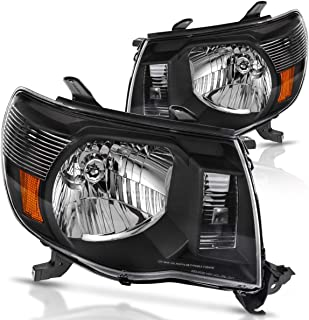 Headlights Assembly for 2005-2011 Toyota Tacoma Black Housing Headlamp