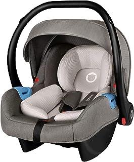 Lionelo Greet Carrier Kindersitz Auto Kindersitz Autokindersitz Gruppe 0 ab Geburt bis 13 kg leichte Konstruktion Faltdach Universaladapter ECE R44 04 TÜV Grau