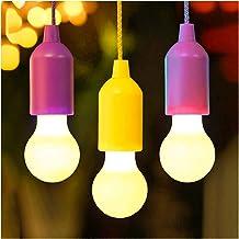 لمبة مضيئة مناسبة للخارجية LED المعلقة تعمل بالبطارية ذات حبل سحب ملون مصابيح إضاءة ليلية في الهواء الطلق التخييم خيمة مصب...