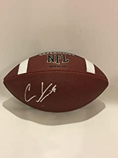 Christian Kirk Signed Nfl Football Arizona Cardinals Texas A&m Aggies Proof - Autographed College Footballs