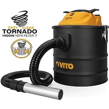 Aspirador de cenizas de Vito Tornado 1400 W 18L Filtro HEPA Barbecues sartenes hasta 50 °C apuntador Auto Limpieza del filtro: Amazon.es: Bricolaje y herramientas