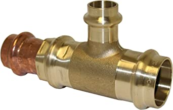 Apollo Valves 10075374 3/4-Inch by 3/4-Inch by 1/2-Inch C x C x C Brass Reducing Outlet Tee