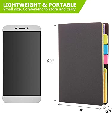 """Sticky Notes Set,SKYDUE Colored Divider Self-Stick Notes Pads Bundle Prioritize with Color Coding,60 Ruled Lined Notes(4""""x6""""), 40 Dotted Notes(3""""x4""""), 40 Blank Notes(3""""x4""""), Total 140 Sheets"""