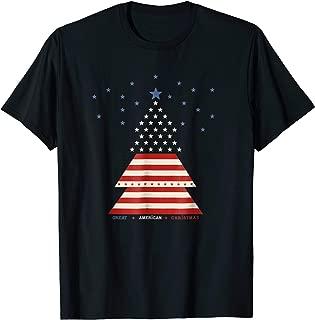 Christmas Tree USA Patriotic Xmas T-Shirt