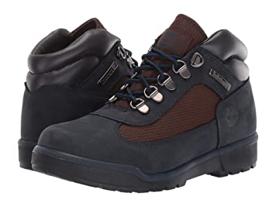 Timberland Kids Fabric/Leather Field Boot (Big Kid) (Navy Nubuck) Kids Shoes