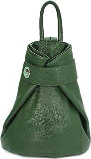 Belli City Backpack II mittelgroßer italienischer Damen Leder Rucksack Rucksacktasche Handtasche Daypack - 28x31x13cm B x H x T