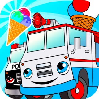 Crazy ice cream truck driver games for kids: Highway car racing