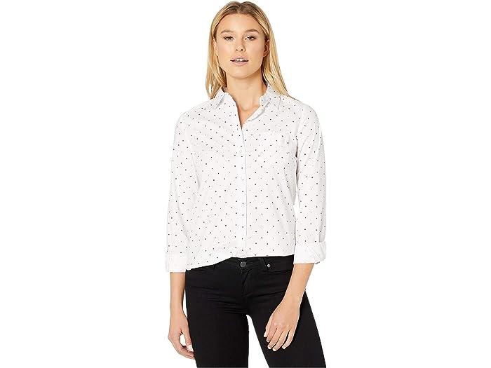 U.S. POLO ASSN. Long Sleeve Dot Stretch Poplin Shirt
