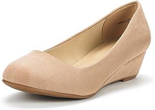 76c59aa87a6c DREAM PAIRS Women s Debbie Mid Wedge Heel Pump Shoes