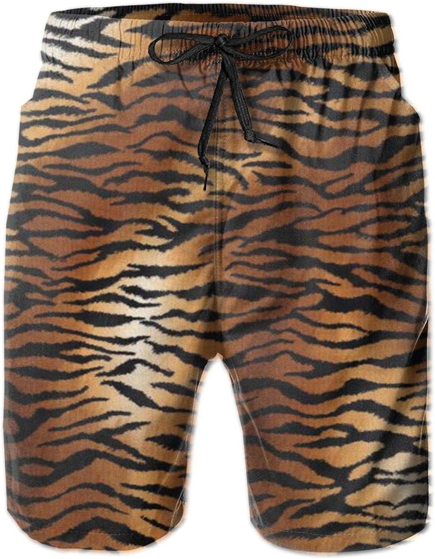 Men's 100% Polyester Tiger Pattern Same day shipping Printed 3D Swim Denver Mall Trunks Beach