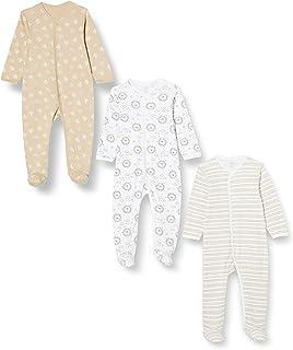 Care Baby-Mädchen Body aus Baumwolle mit Langen Ärmeln und Füßen, 3er-Pack