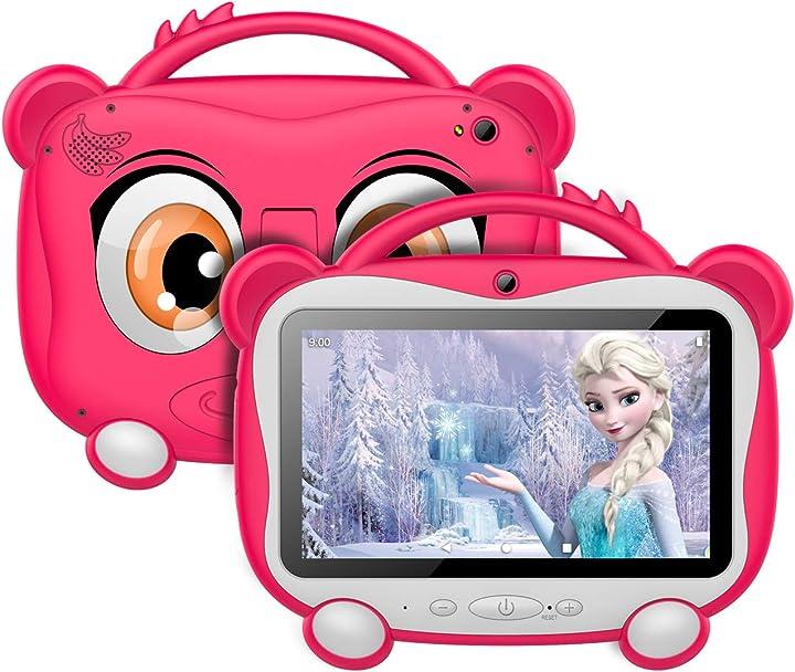 Tablet per bambini 7 pollici android 10.0 os con google gms 16 gb di memoria supporto 128 gb espandibile wifi B08C9YNKVJ