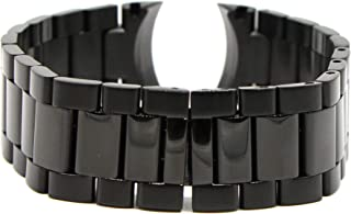 Swiss Legend 22MM Black Stainless Steel 8 Inches Watch Strap Band Bracelet Fits 43mm Sergeant Men's Watch