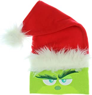 Dr. Seuss The Grinch Movie Embroidered Knit Santa Beanie Hat