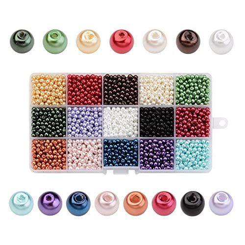 free ship 230pcs Round Glass charm beads 4mm Spacer Bead 7 Colors