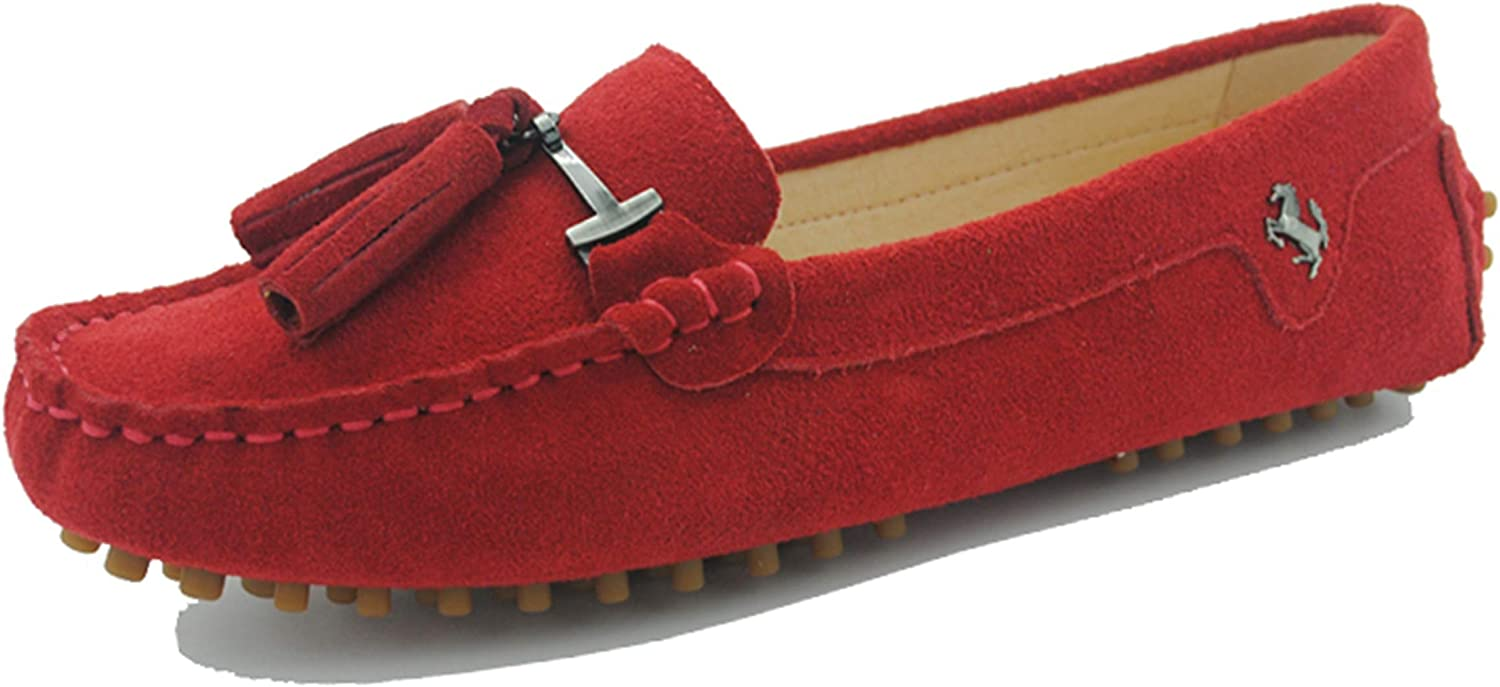 Minishion Summer Loafers for Women Tassel Driving Shoes YB96019