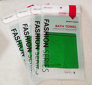 Korean Exfoliating Bath Washcloth (Green)_5pcs