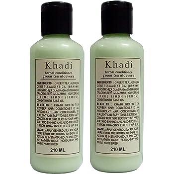Khadi Herbals Green Tea Aloe Vera Hair Conditioner pack of 2, 420ML