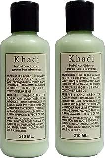 Khadi Herbals Green Tea Aloe Vera Hair Conditioner pack of 2 , 420ML
