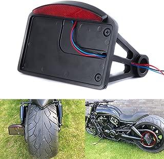 Motorcycle Mount License Plate Brake Tail Light Bracket For Bobber Chopper Harley