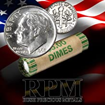 1963 Denver 90% Silver Roll of Roosevelt Dimes (50 Coins) US Mint Brilliant Uncirculated