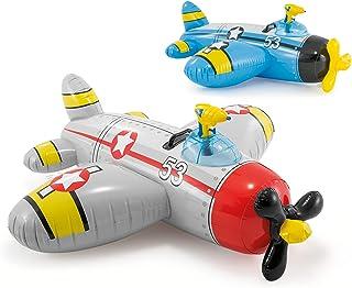 Inflable Avión Con Pistola De Agua para Alberca Flotador Niños Gris