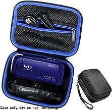 Semi-hard Camcorder Case for Sony HD Video Recording HDRCX405, HDRCX440 Handycam; Canon VIXIA HF R800, Panasonic HC-V180K and Kimire HD Recorder, Professional Hard Case with SD, Memory Card Pockets,