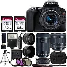 $829 Get Canon EOS Rebel SL3 Digital SLR Camera (Black) + EF-S 18-55mm & 55-250 mm Lenses + 58mm 2X Professional Telephoto & 58mm Wide Angle Lens + 32GB & 64GB Memory Card + Case + Tripod + Flash + Lens Band