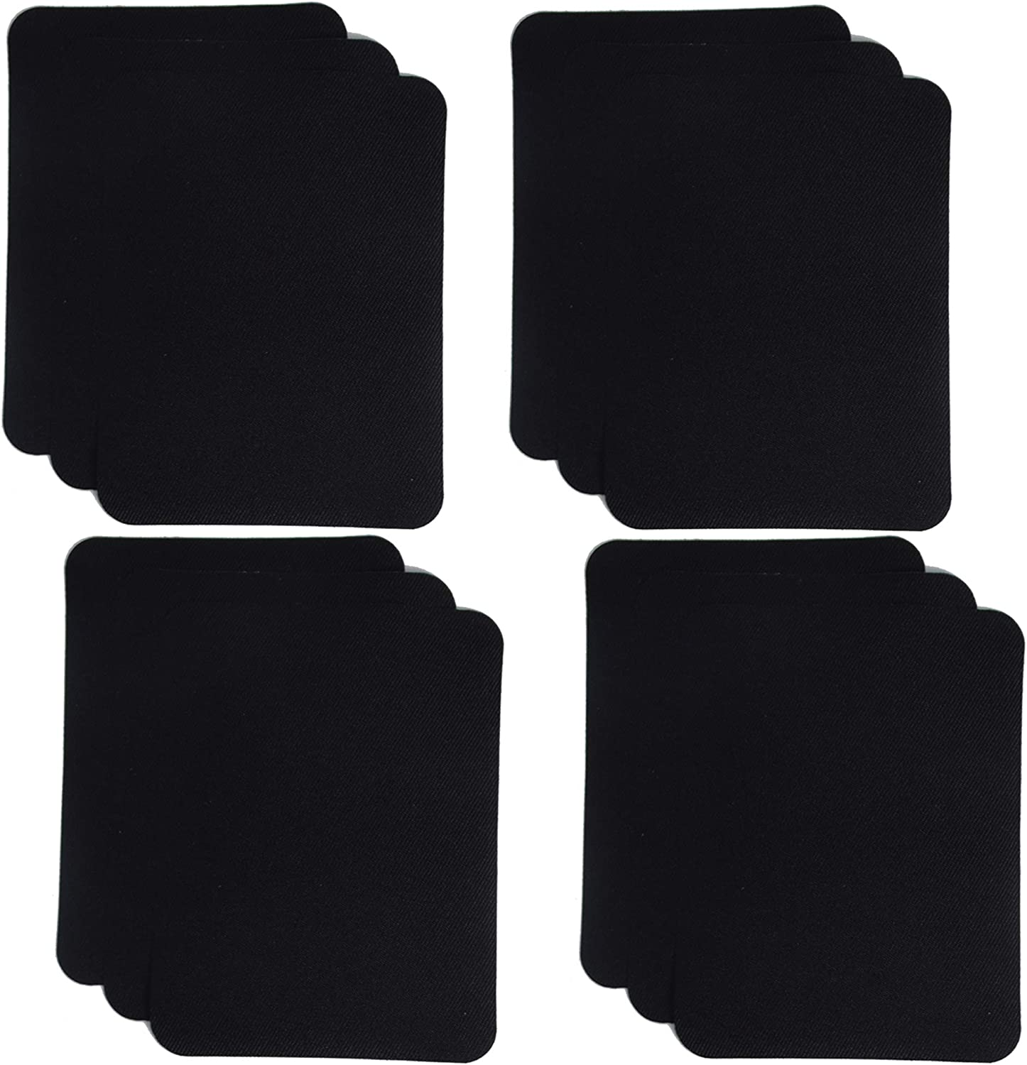 Denim Patches for Jeans Kit,Iron for Inside Jeans /& Clothing Repair Black SHELCUP 4.9inX3.8in 12PCS Iron on Patches for Clothing Repair