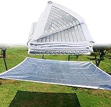 YJJT Zonnekap zeildoek - reflecterende aluminiumfolie 75% blok schaduwnet Tarp - buiten, tuin, dek, pergolas cover, zonwer...