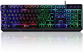 Klim Chroma Gaming Keyboard Wired USB + Durable, Ergonomic, Waterproof, Silent Keyboard + 2 Ms Response Time + Backlit Key...