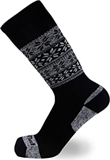 Kids Alpaca Wool Ski Socks - Warm Wool Ski Sock for Boys, Girls - Skiing, Snowboarding