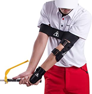 5-Piece Suit Golf Training Aids Swing and Putting , PGA Golf Posture Correction Tools for Beginner and Kid. Improving Gesture/Elbow/Wrist/Arm/Leg Posture,Forming the Correct Muscle Memory.