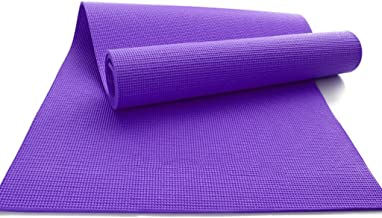 Breathable Yoga mat, Non-Slip PVC Portable Sports Fitness Outdoor Male and Female Pads 8mm, Pilates (Color : Purple)