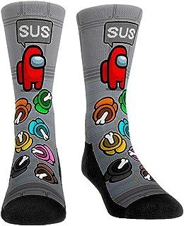 Suppemie, Un par de calcetines Among Us de dibujos animados, unisex, ligeros y transpirables, mantienen tus pies secos y cómodos.