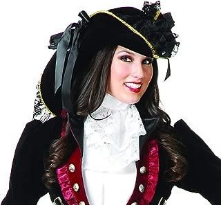 Charades Women's Ladies Velvet Pirate Hat