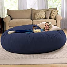 Jaxx 6 Foot Cocoon Large Bean Bag Chair for Adults, Microsuede Navy