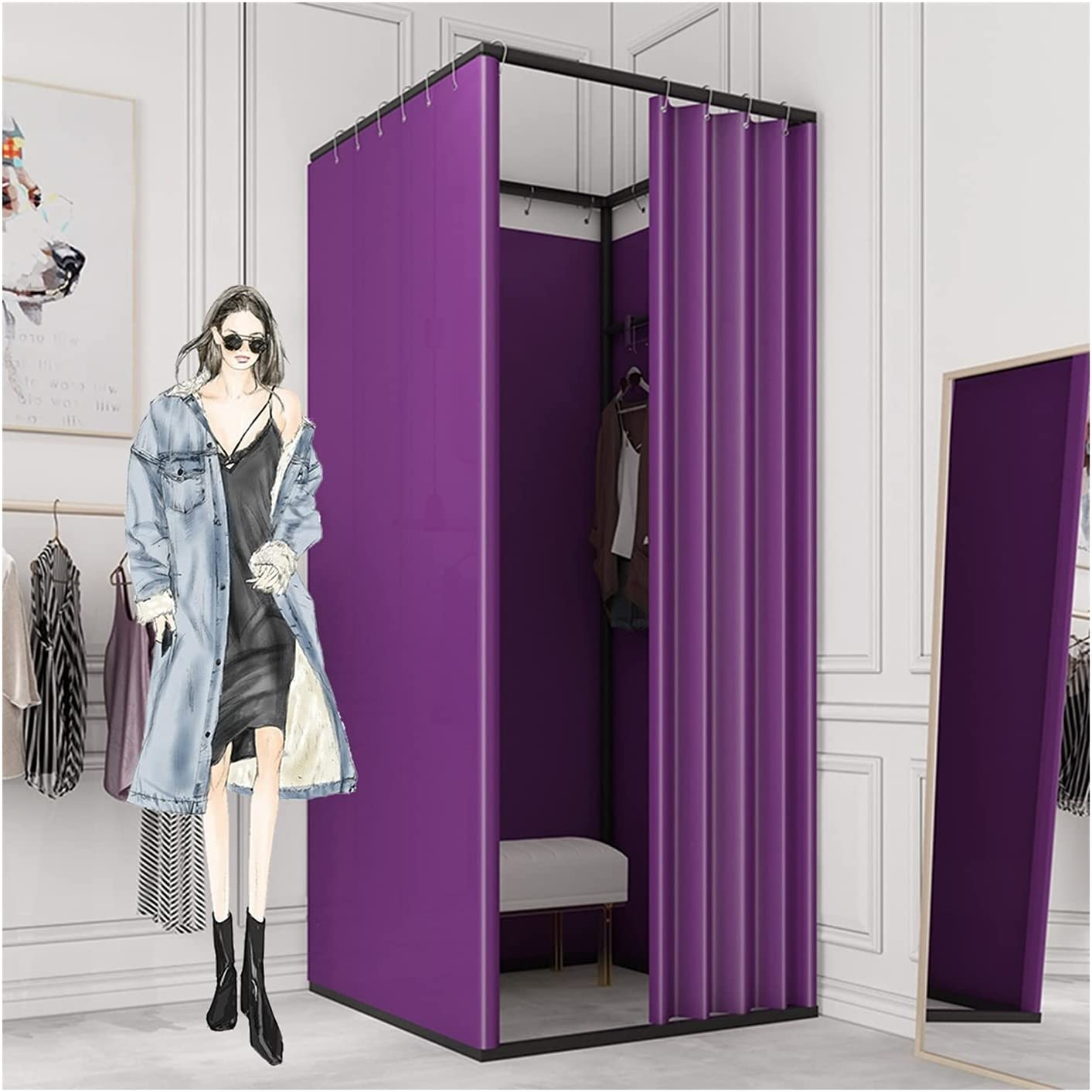 LM-Coat rack lowest price XINGLL Clothing Store Room 70% OFF Outlet Privacy Fitting Po Tent