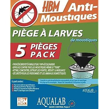 HBM 005-PR-PGE005 AquaLab larve trappole Anti-zanzare, da assemblare, in resina, trasparente, 60 x 35 x 45 cm confezione da 5
