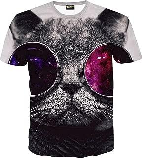 Unisex 3D Digital Cat Printing T Shirts