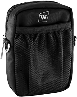 WinBridge Voice Amplifiers Speaker Carry Case Cover Bag with Mesh Pocket Zip And Snap Hook Fit USB Cable Wall Charger Phon...