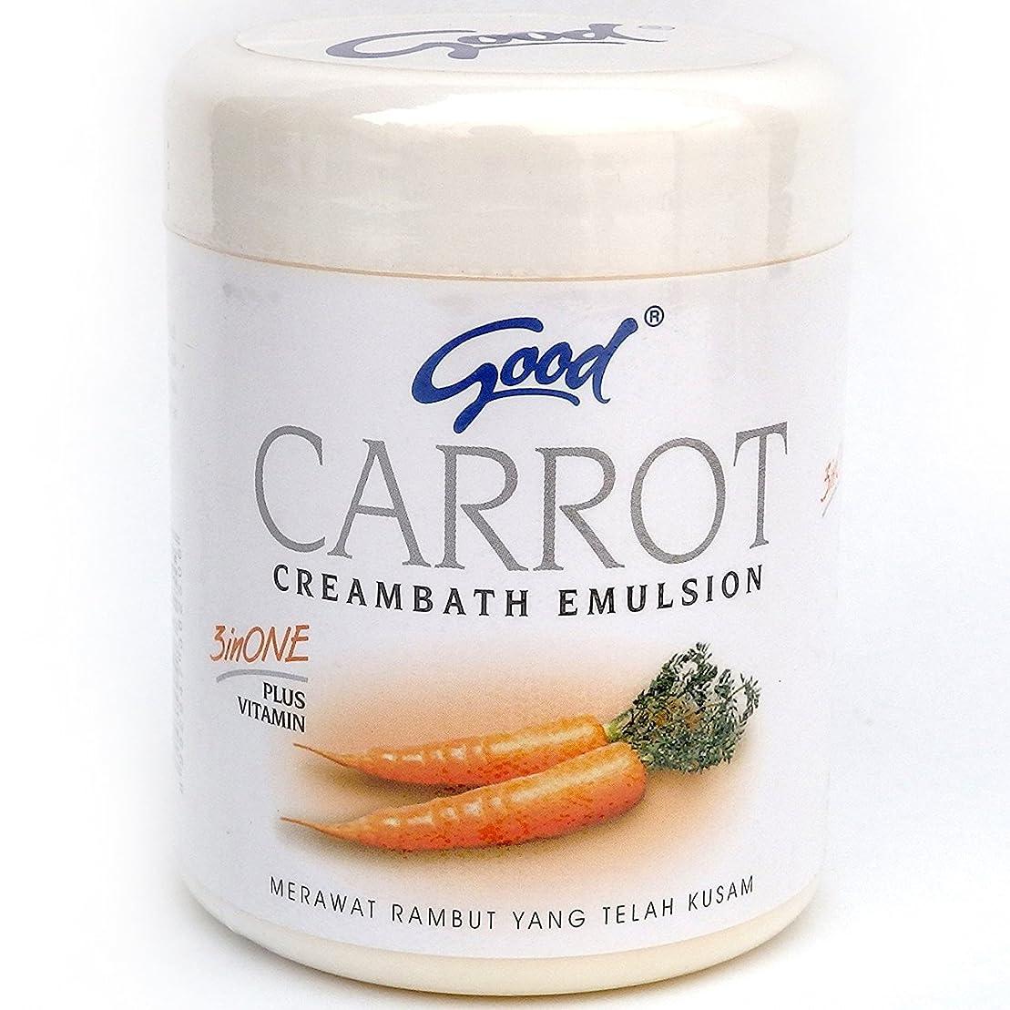 蜜災難悪性腫瘍good グッド インドネシアバリ島の伝統的なヘッドスパクリーム Creambath Emulsion クリームバス エマルション 250g Carrot キャロット [海外直送品]